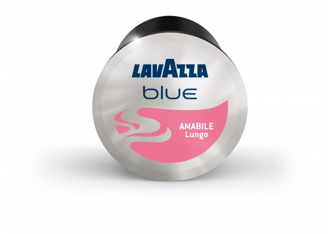 LAVAZZA BLUE présente les capsules AMABILE en carton de 100 capsules
