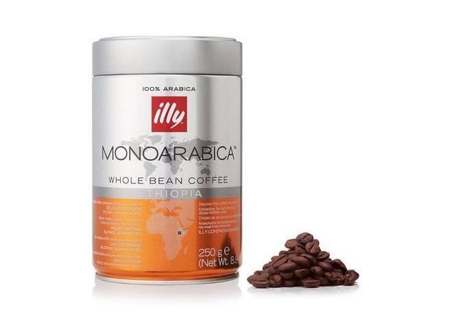 Illy café en grains MONOARABICA d'Ethiopie est légèrement acide avec beaucoup de douceur en bouche
