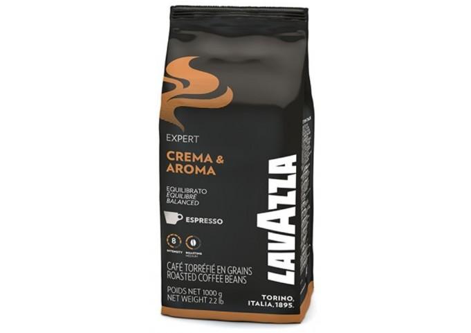 Café en grains Crema et Aroma un mélange de caractère signé LAVAZZA