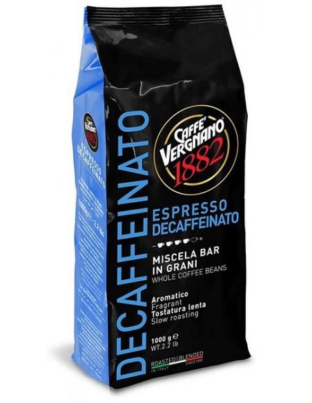 Decafeinato Caffé Vergnano, tous les plaisirs de l'expresso, la caféine en mois !