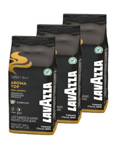 Le café en grains AROMA TOP ex Voix de la Terre de Lavazza. Un mélange d'Arabica aux notes gourmandes et fruitées