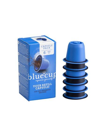Les 6 capsules rechargeables et réutilisables Blue Cup pour compléter votre Kit-Starter.
