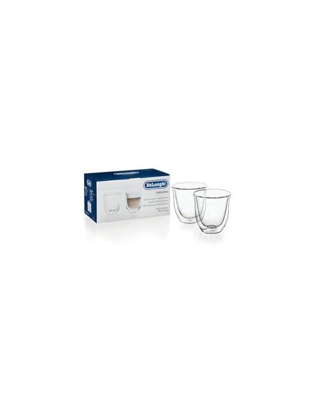 Delonghi set de 2 verres thermiques à double parois 6cl pour Cappuccino