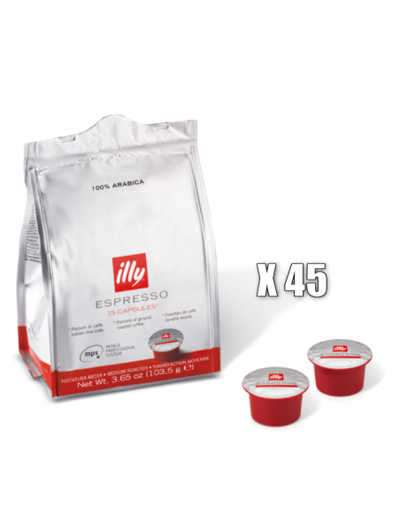 45 capsules MPS compatible ave la M5 Illy