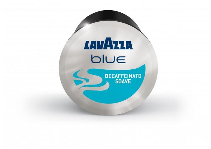 LAVAZZA BLUE présente les capsules DECAFFEINATO SOAVE en carton de 100 capsules